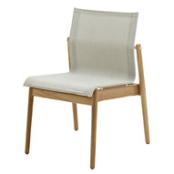 Sway Stacking Chair In Buffed Teak With Seagull Sling