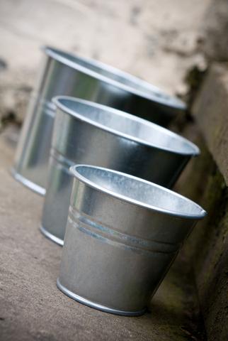 Galvanised Indoor Pot Large