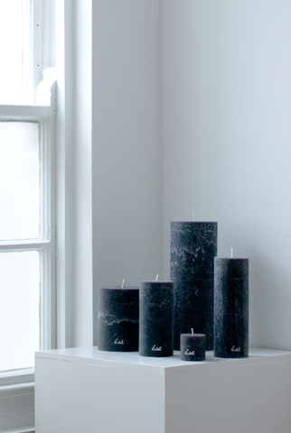 Ø5xH5cm - rustic candle