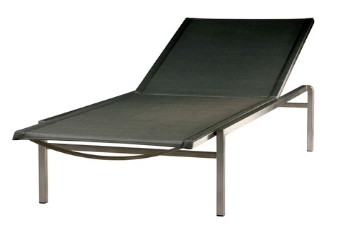 Quattro Sun Lounger (Charcoal Sling)