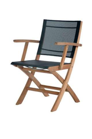 Horizon Folding Carver Chair (Charcoal)