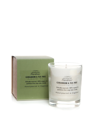 TCG Organic Scented Candle Jar 'Geranium & Tea Tree'