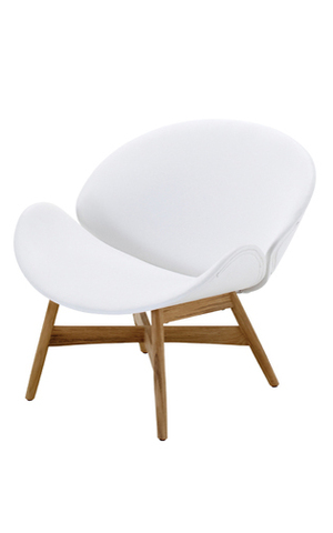 Dansk Lounge Chair White Outdoor Leather