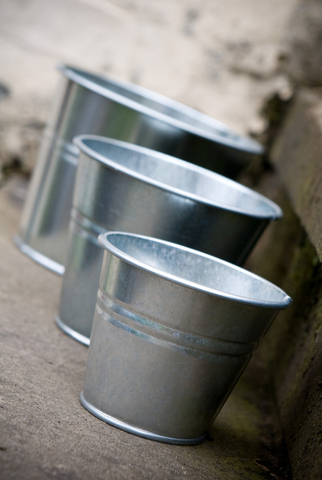 Galvanised Indoor Pot Small