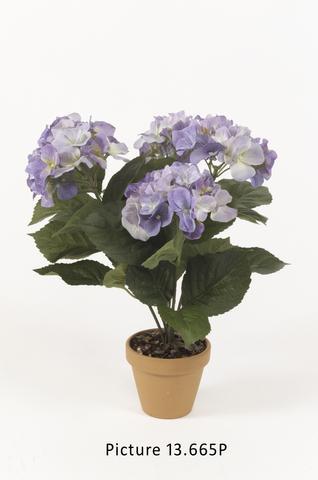 Artificial Blue Hydrangea bush 37cm