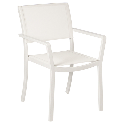 Cayman Armchair Arctic White/Pearl