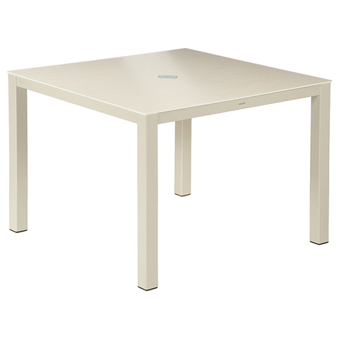 Cayman Dining Table 100cm Square - Ceramic - Champagne/Ivory