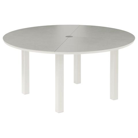 Cayman Dining Table 150cm Circular - Ceramic - Arctic White/Ash