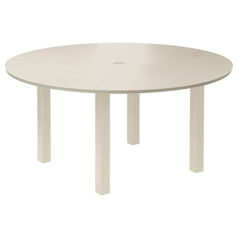 Cayman Dining Table 150cm Circular - Ceramic- Champagne/Ivory