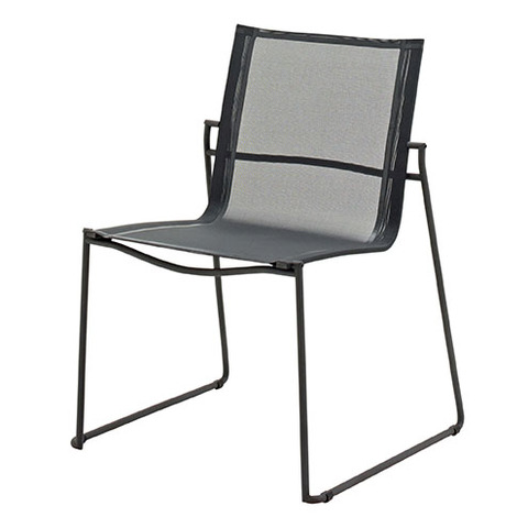 Asta Stacking Chair Meteor Frame With Grey Slings