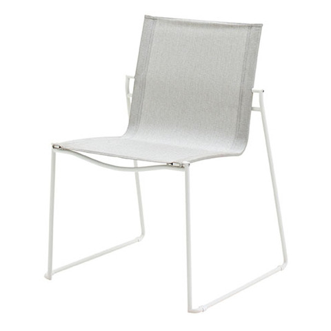 Asta Stacking Chair White Frame With Seagull Slings