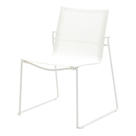 Asta Stacking Chair White Frame With White Slings