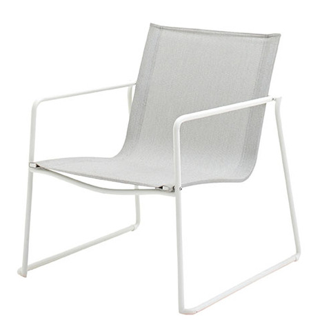 Asta Stacking Lounge Chair White Frame With Seagull Slings