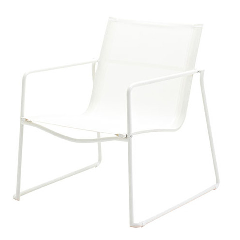 Asta Stacking Lounge Chair White Frame With White Slings
