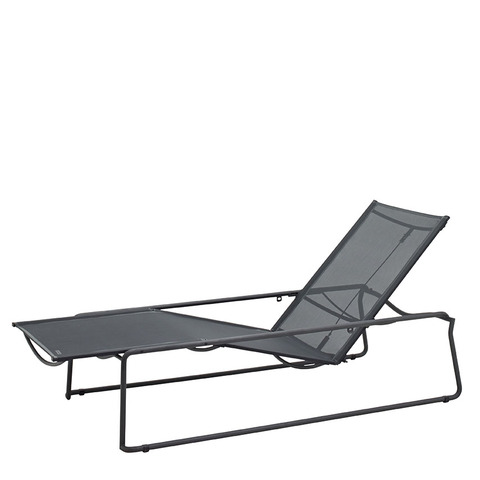 Asta Stacking Lounger Meteor Frame With Grey Slings
