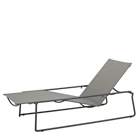 Asta Stacking Lounger Meteor Frame With Granite Slings
