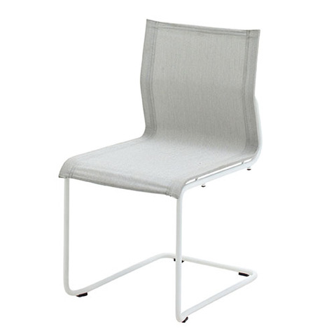 Sway Stacking Chair With White Frame And Seagull Slings