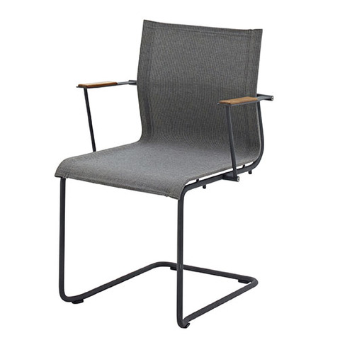 Sway Stacking Armchair With Meteor Frame And Granite Slings