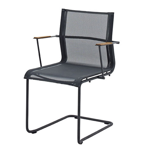Sway Stacking Armchair With Meteor Frame And Grey Slings