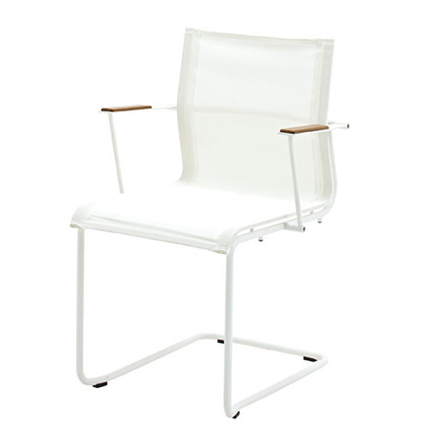 Sway Stacking Armchair With White Frame And White Slings