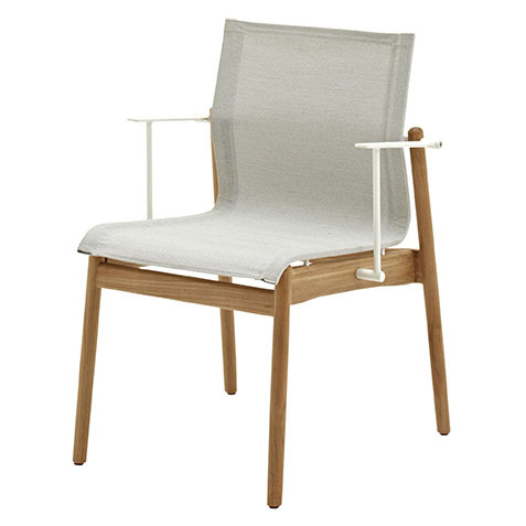 Sway Stacking Armchair In Buffed Teak With Seagull Sling