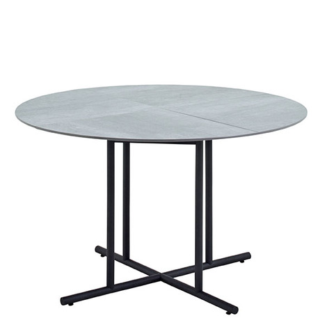 Whirl 120cm Round Dining Table With Ceramic Top And Meteor Frame