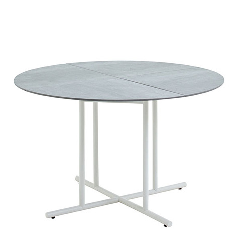Whirl 120cm Round Dining Table With Ceramic Top And White Frame