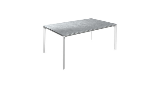 Carver 99cm x 170cmTable With Ceramic Top And White Frame