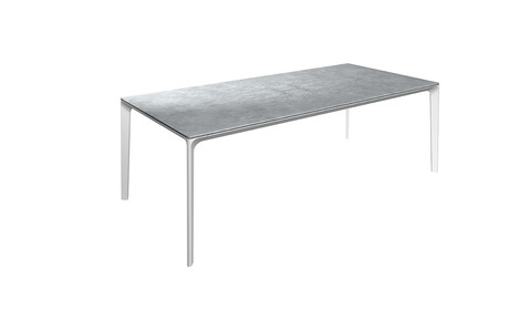 Carver 99cm x 220cm Table With Ceramic Top And White Frame