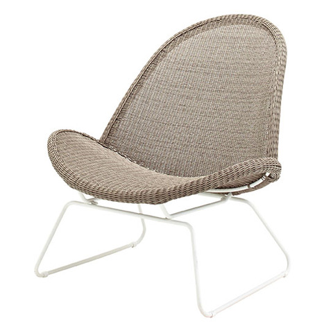 Bepal Lounge Chair (White / Nutmeg)