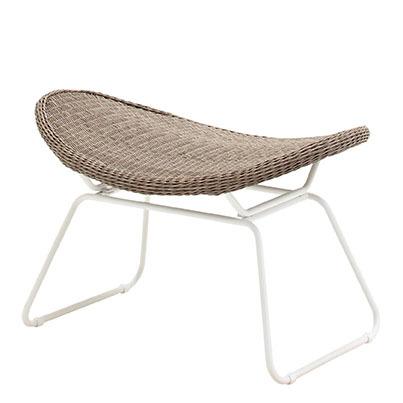 Bepal Footstool (White / Nutmeg)