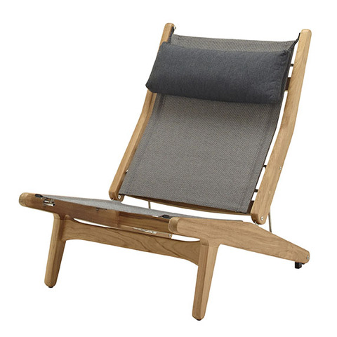 Bay Reclining Chair With Granite Slings And Soot Headrest