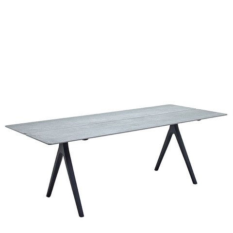 Split 92cm x 220cm Dining Table With Ceramic Top And Meteor Frame