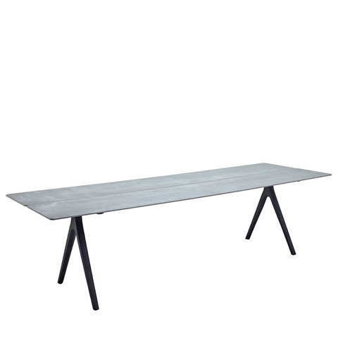 Split 92cm x 280cm Dining Table With Ceramic Top And Meteor Frame
