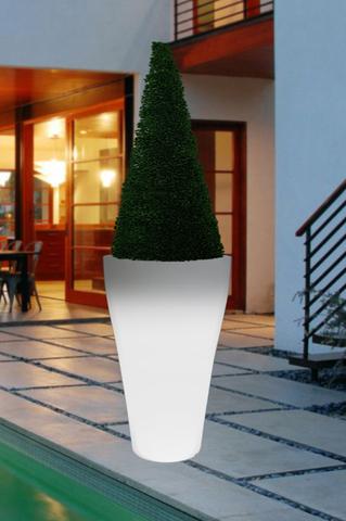 Small LED Cone Planter