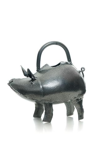 Baby Pig Metal Watering Can