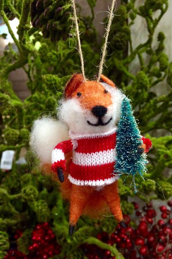 Festive hanging Fox