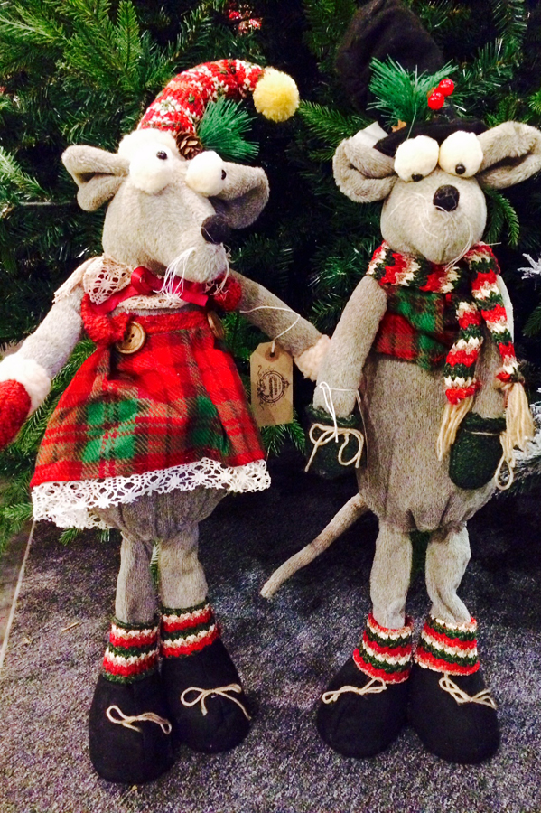 Mr and Mrs Mouse Standing