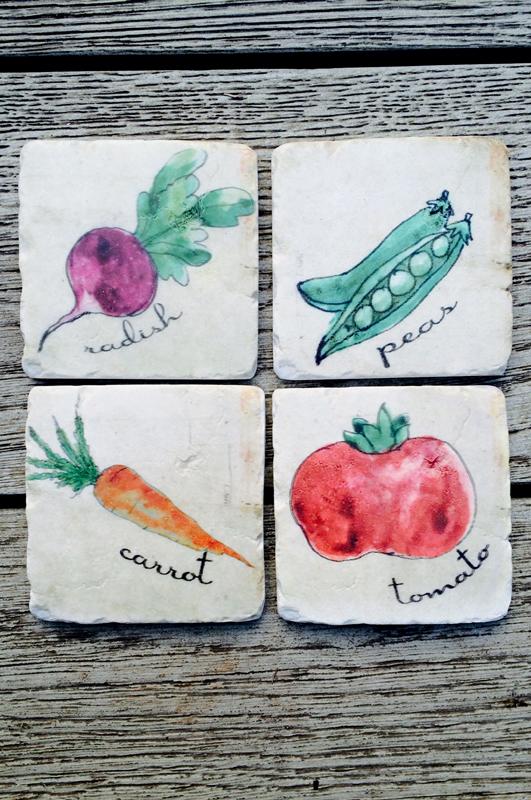 Vegetable Resin Coaster