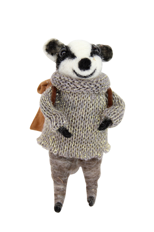 Wool Mix Badger with Coat