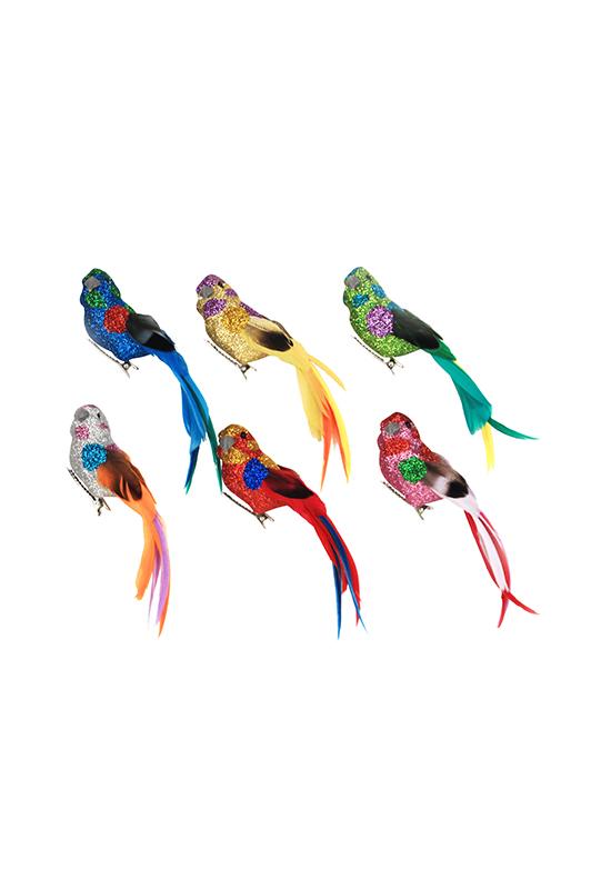 Multi Colour Bird on Clip