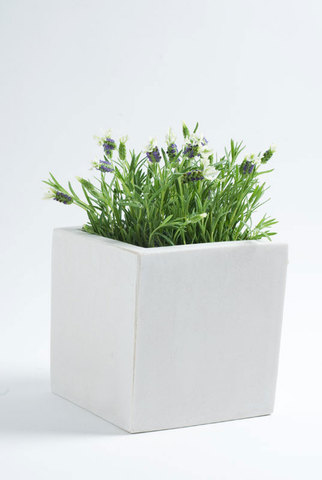 Poly Cubic White 20cm