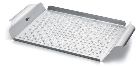 Deluxe Grilling Pan - Stainless Steel, Rectangular