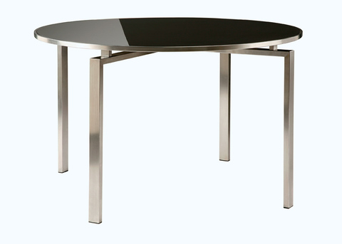 Mercury 120cm Circular Dining Table (Charcoal)