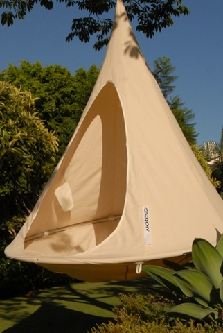 Cacoon hanging chair in Natural Canvas