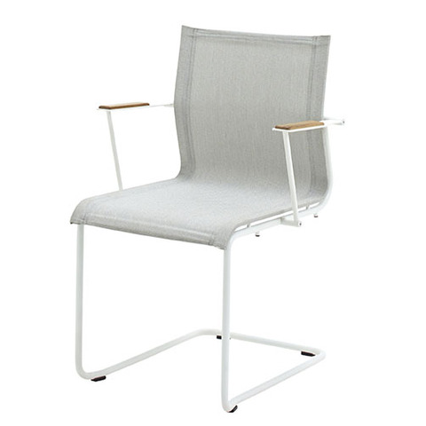 Sway Stacking Armchair With White Frame And Seagull Slings
