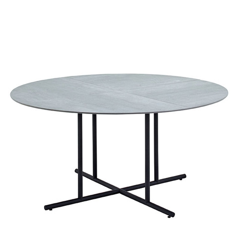 Whirl 150cm Round Dining Table With Ceramic Top And Meteor Frame