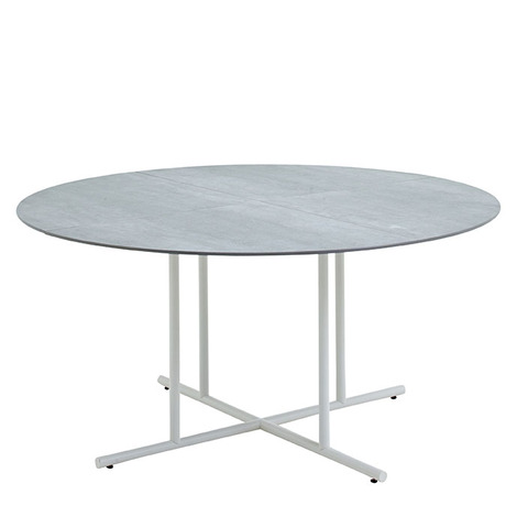 Whirl 150cm Round Dining Table With Ceramic Top And White Frame