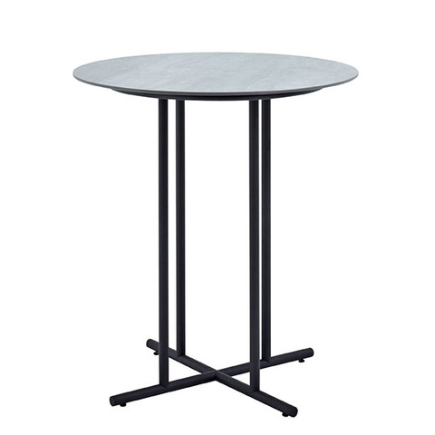 Whirl 90cm Round Bar Table With Ceramic Top And Meteor Frame