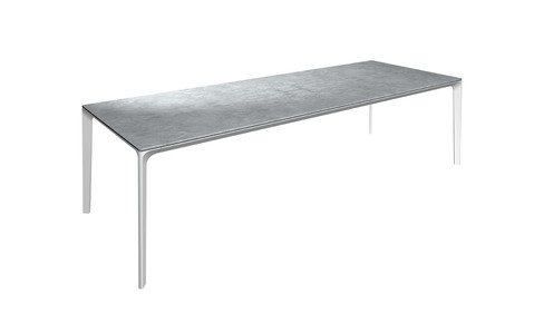 Carver 99cm x 280cm Table With Ceramic Top And White Frame